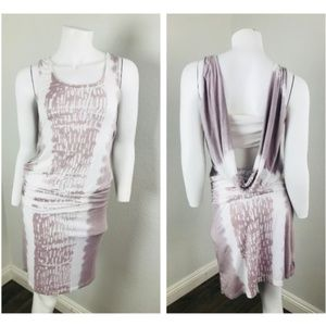 GREEN DRAGON XS Dress White Purple Sleeveless